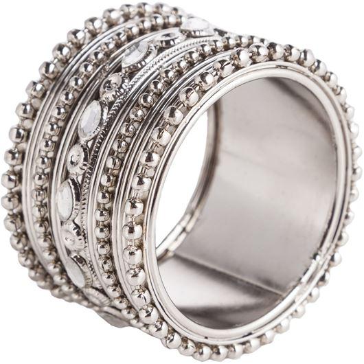 SHREYA napkin ring silver