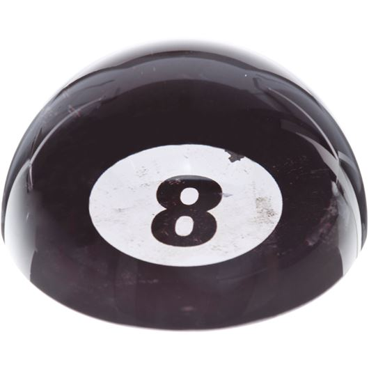 Picture of EIGHT paperweight d8cm black