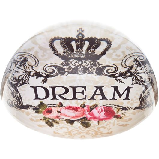 Picture of DREAM paperweight d8cm cream