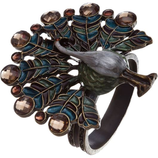 Picture of PEACOCK napkin ring multicolour