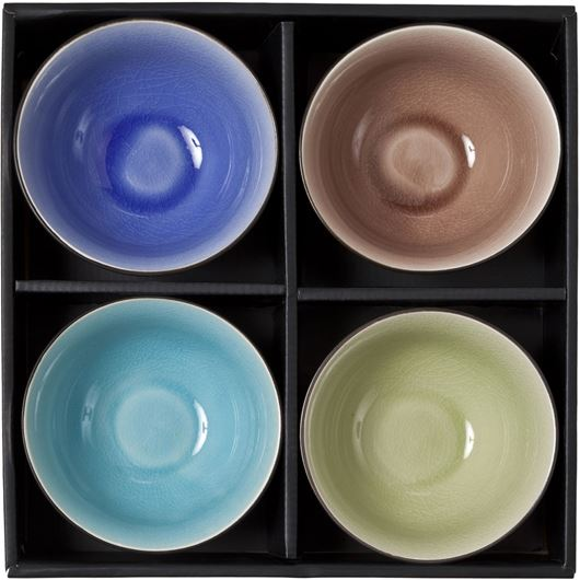Picture of CHUN bowl set of 4 multicolour
