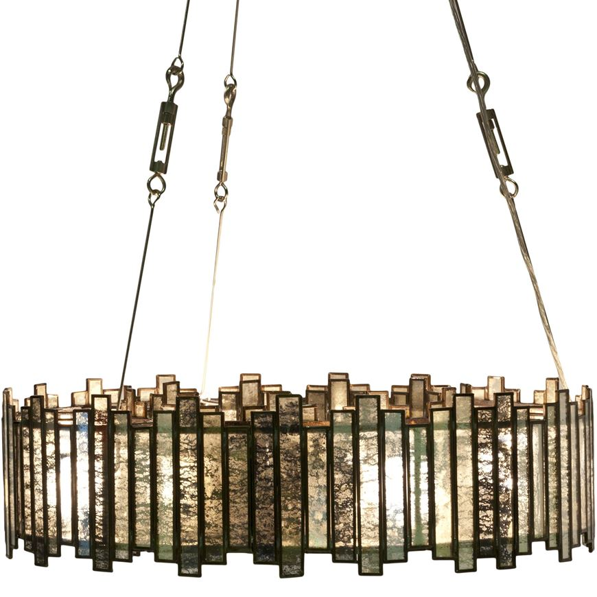 Picture of RING chandelier d61cm clear/copper
