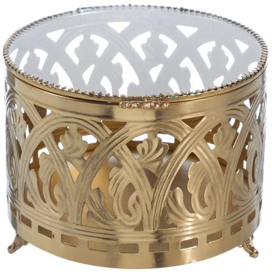 Picture of DEANNA jewellery box d18cm gold