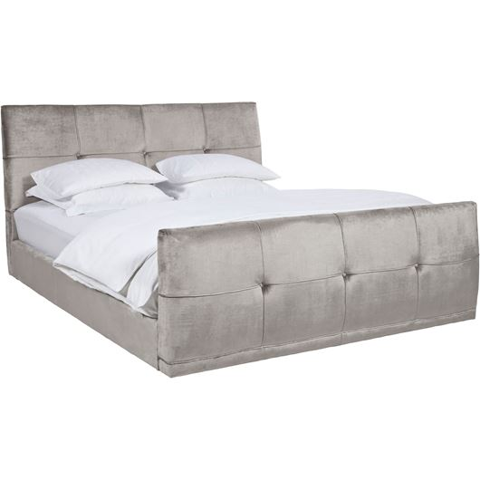 NAP bed 180x200 with footboard grey