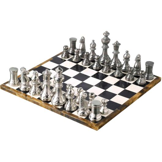 ANGELO chess set 34x34 black/white