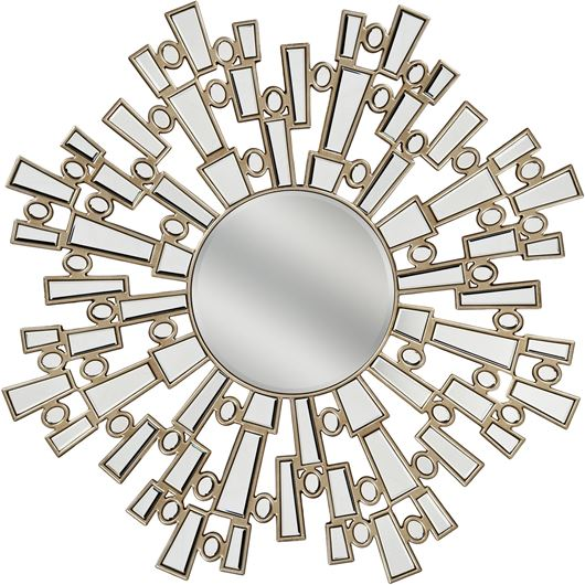 Picture of SUN mirror d120cm clear/gold