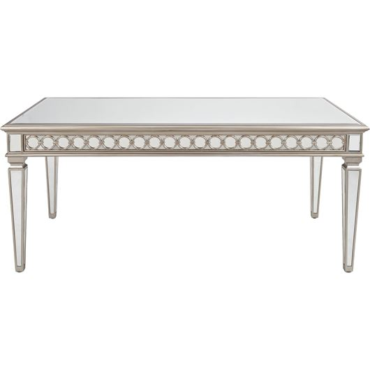 LINC dining table 220x100 clear/silver