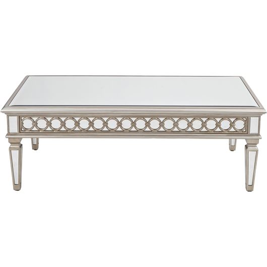 LINC coffee table 130x70 clear/silver
