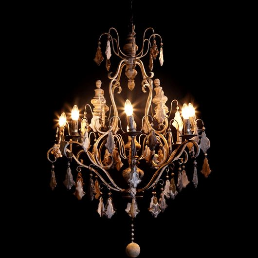 Picture of ALINA chandelier d87cm grey