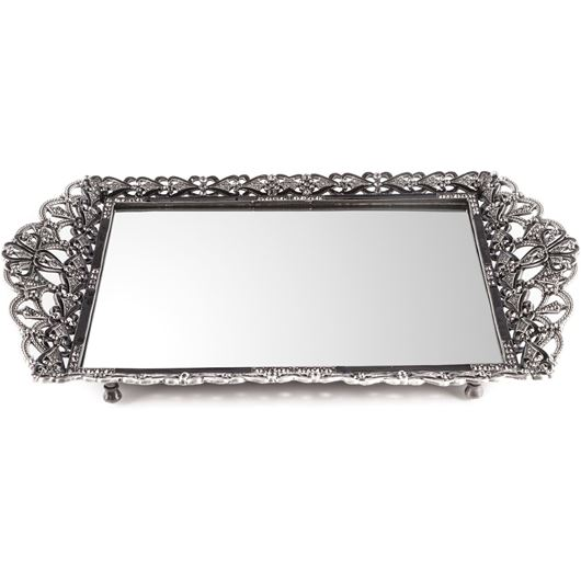 Picture of ASHA tray 43x25 silver