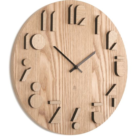 Picture of SHADOW clock d41cm natural