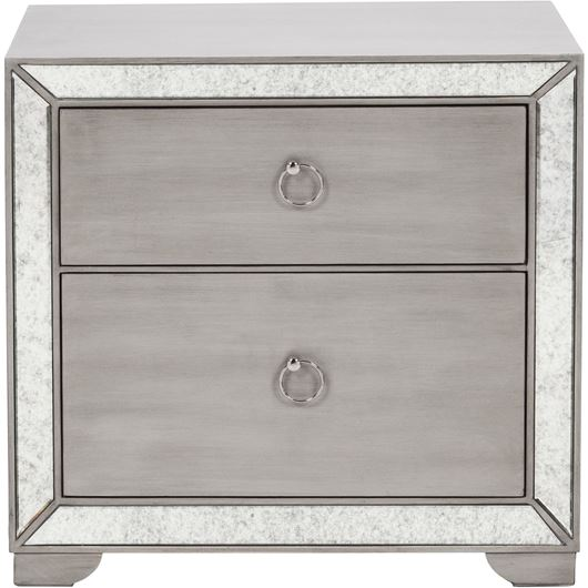 Picture of MONA bedside table clear/silver