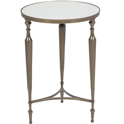Picture of LANGDON side table d41cm clear/brass