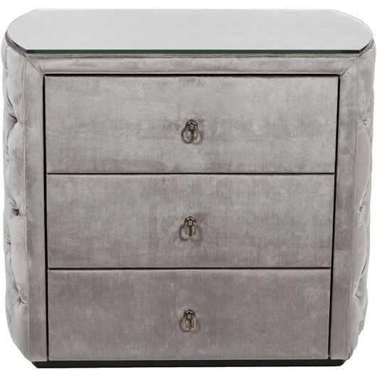 Picture of POKER bedside table taupe