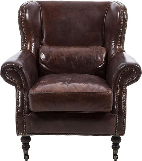 Picture of SCHOLAR armchair leather brown