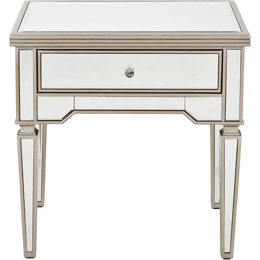Picture of AINA side table 66x51 clear/gold