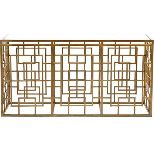 Picture of CROSSY console 152x41cm brass