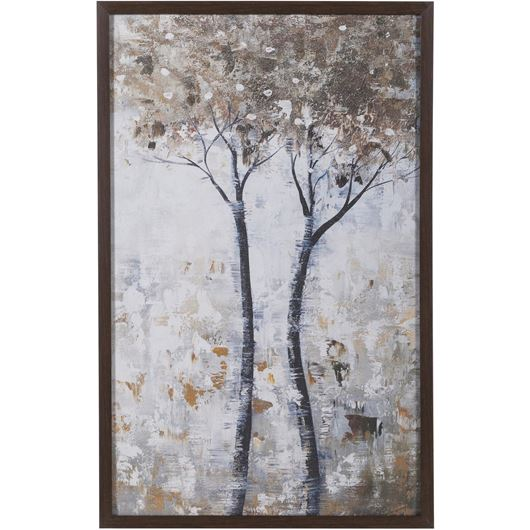 Picture of TREE II print 53x83 brown