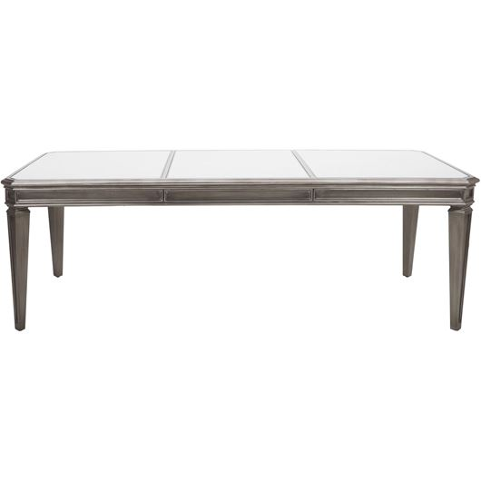 Picture of RIAM dining table 240x110 clear/silver
