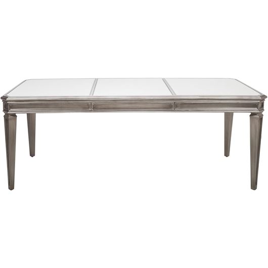 Picture of RIAM dining table 200x100 clear/silver