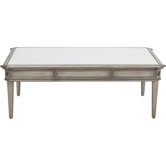 Picture of MIAM coffee table 130x70 clear/gold