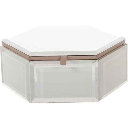 Picture of XANDER box 23x23 white/silver