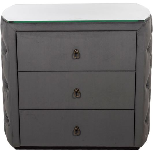 Picture of POKER bedside table grey