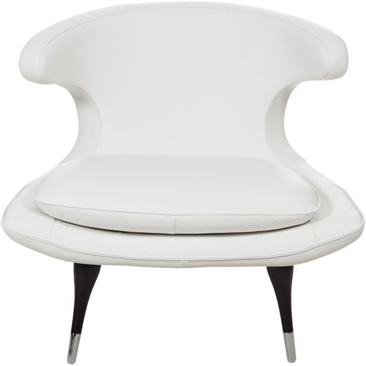 Picture of MIX armchair leather white