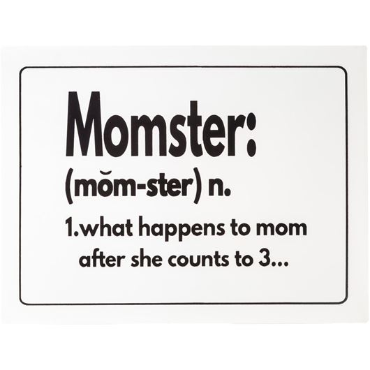Picture of MOMSTER wall decoration 27x35 white