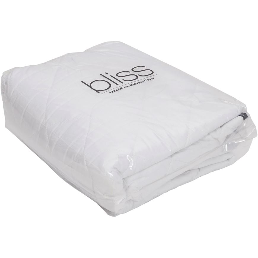 Mattress Cover.Bliss Mattress Cover 120x200 White