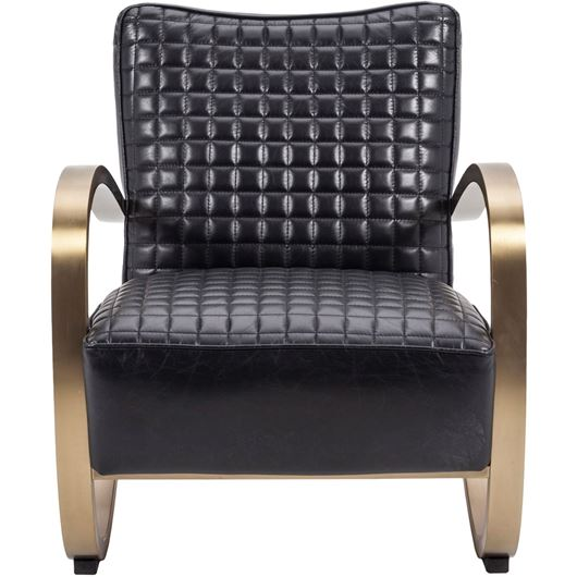 Picture of GLA armchair leather black