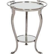 Picture of ROSAL side table 48x43 clear/nickel