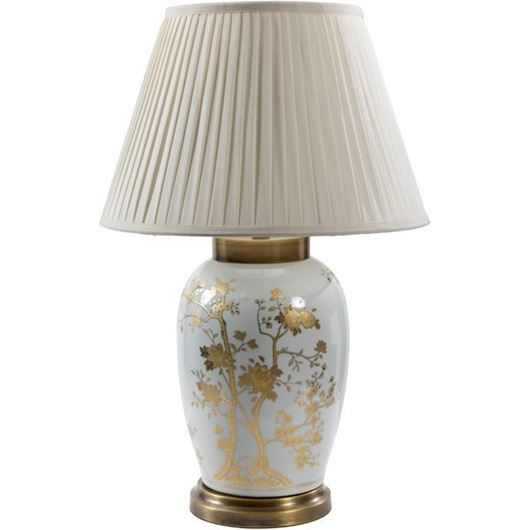 Picture of WILDA table lamp h70cm white/gold