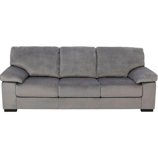 Picture of SAN sofa 3 microfibre silver