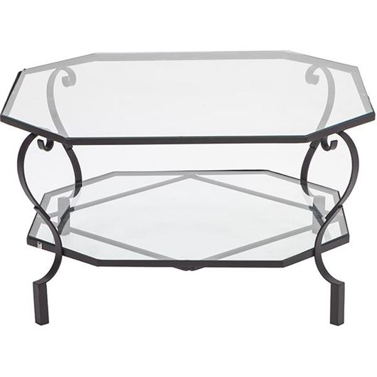 Picture of GARBO coffee table 106x106 clear/bronze