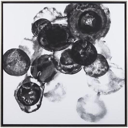 Framed Print Abstract II 93x93 black