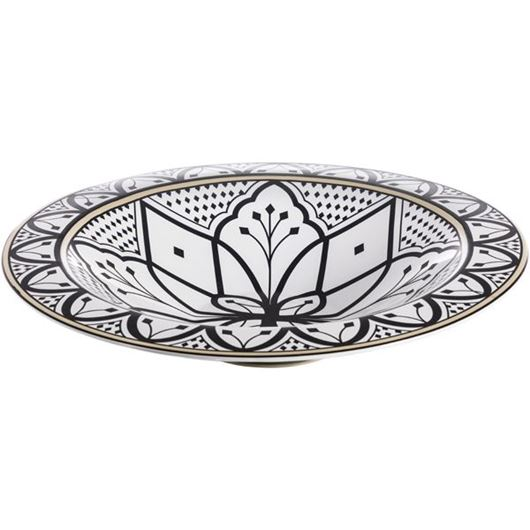 Picture of ARRA bowl d40cm black and white