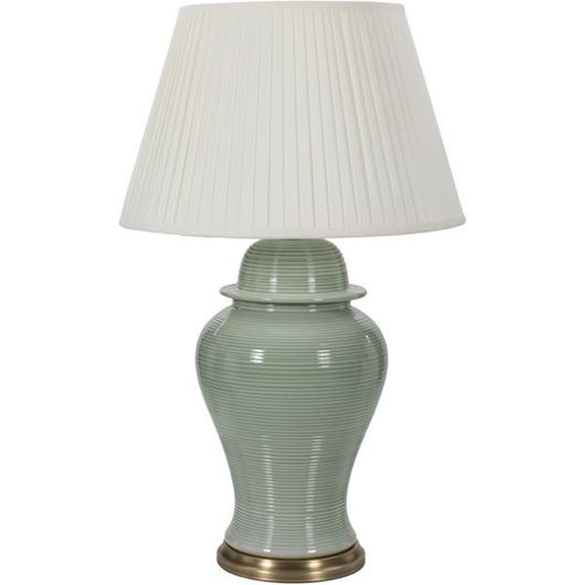 Picture of HILDA table lamp h62cm white/green