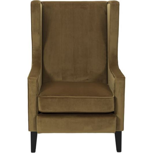 Picture of WEST wing chair brown