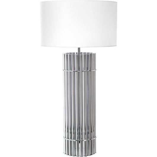 Picture of SIA table lamp h92cm white/silver