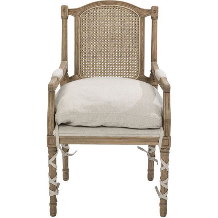 Picture of MARI dining armchair natural/taupe