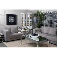 TORA coffee table 124x65 clear/black