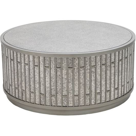 Picture of LEVI coffee table d102cm silver