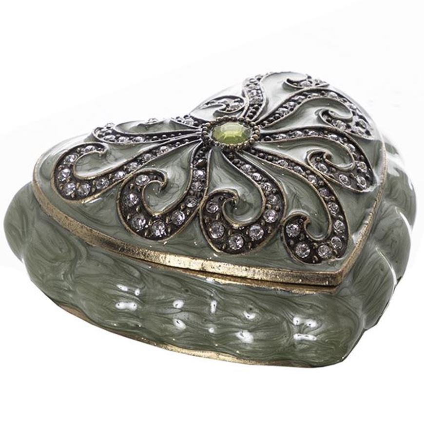 Picture of AIDEN trinket box 8x7 gold/green