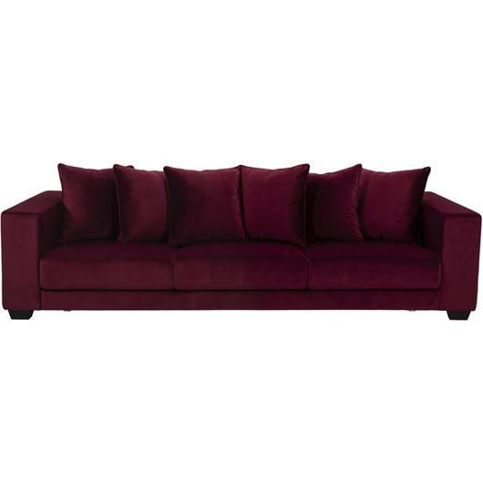 Picture of SPUD sofa C 4 microfibre red