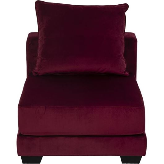 Picture of SPUD armless chair microfibre red