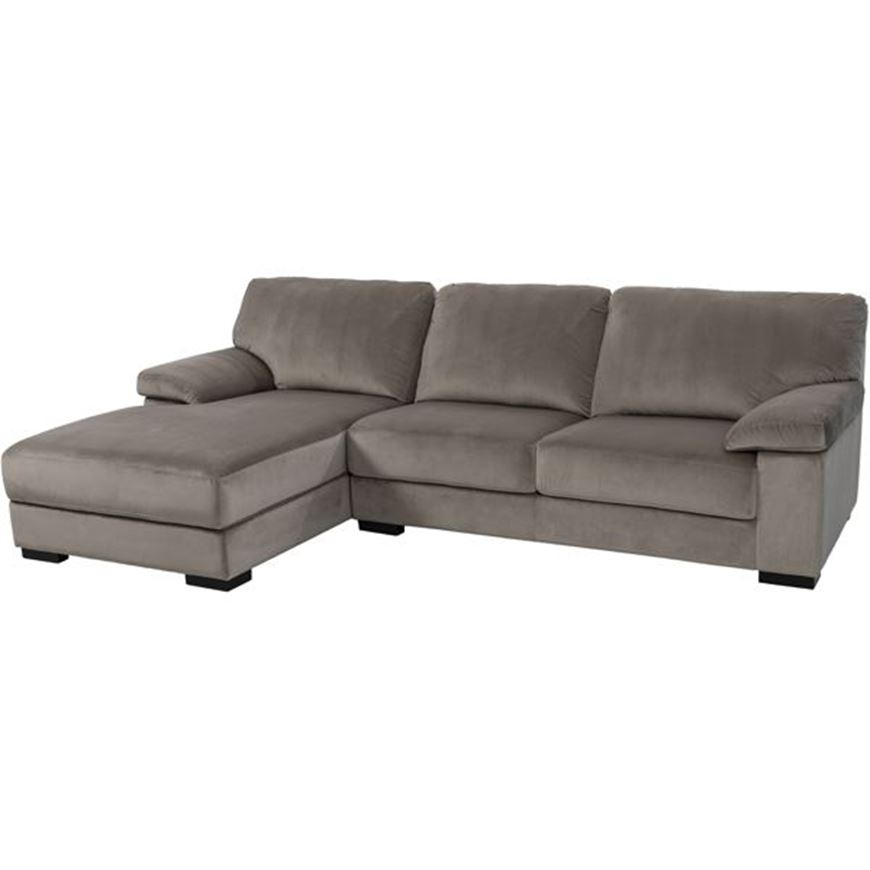 Picture of SAN sofa 2.5 + chaise lounge Left microfibre taupe