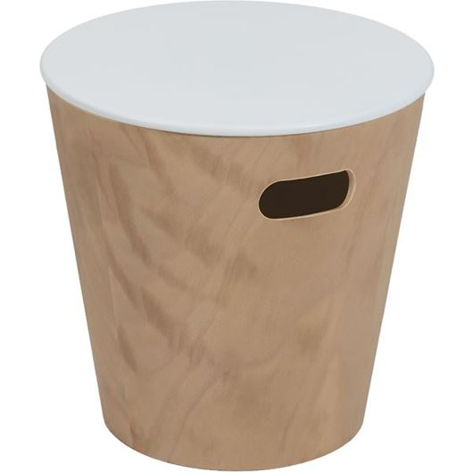 Picture of WOODROW stool d41cm white/natural