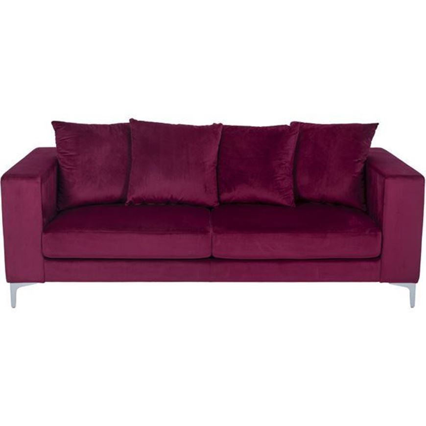REO sofa 3 microfibre red