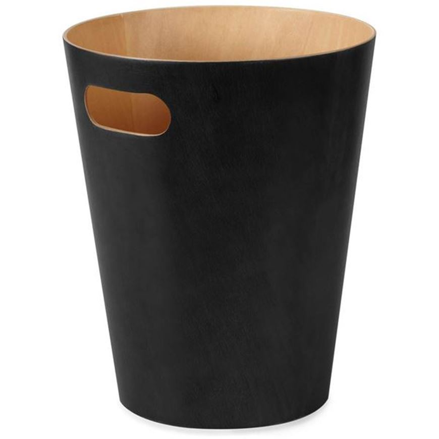 Picture of WOODROW waste can black/natural